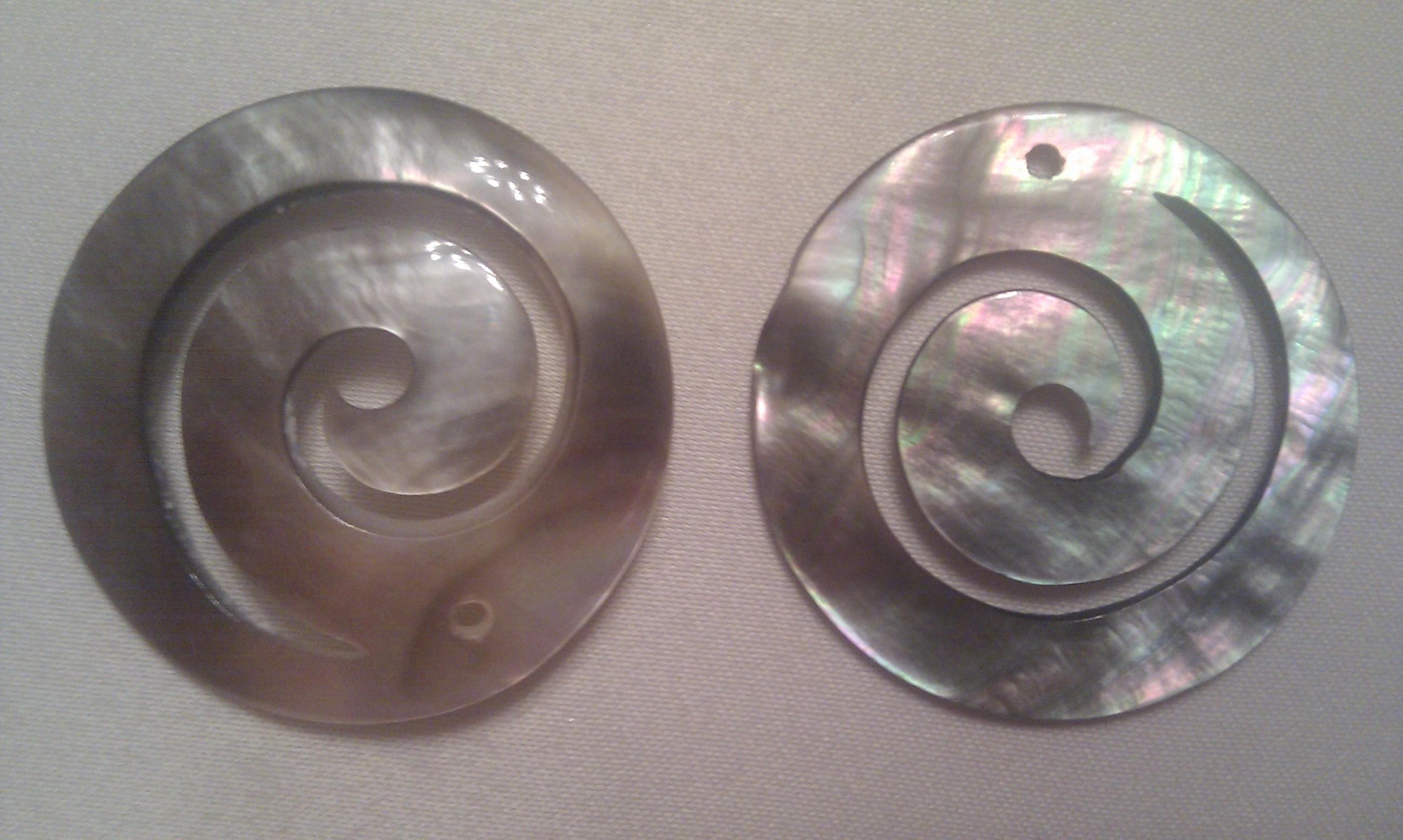 spirals made of nacre